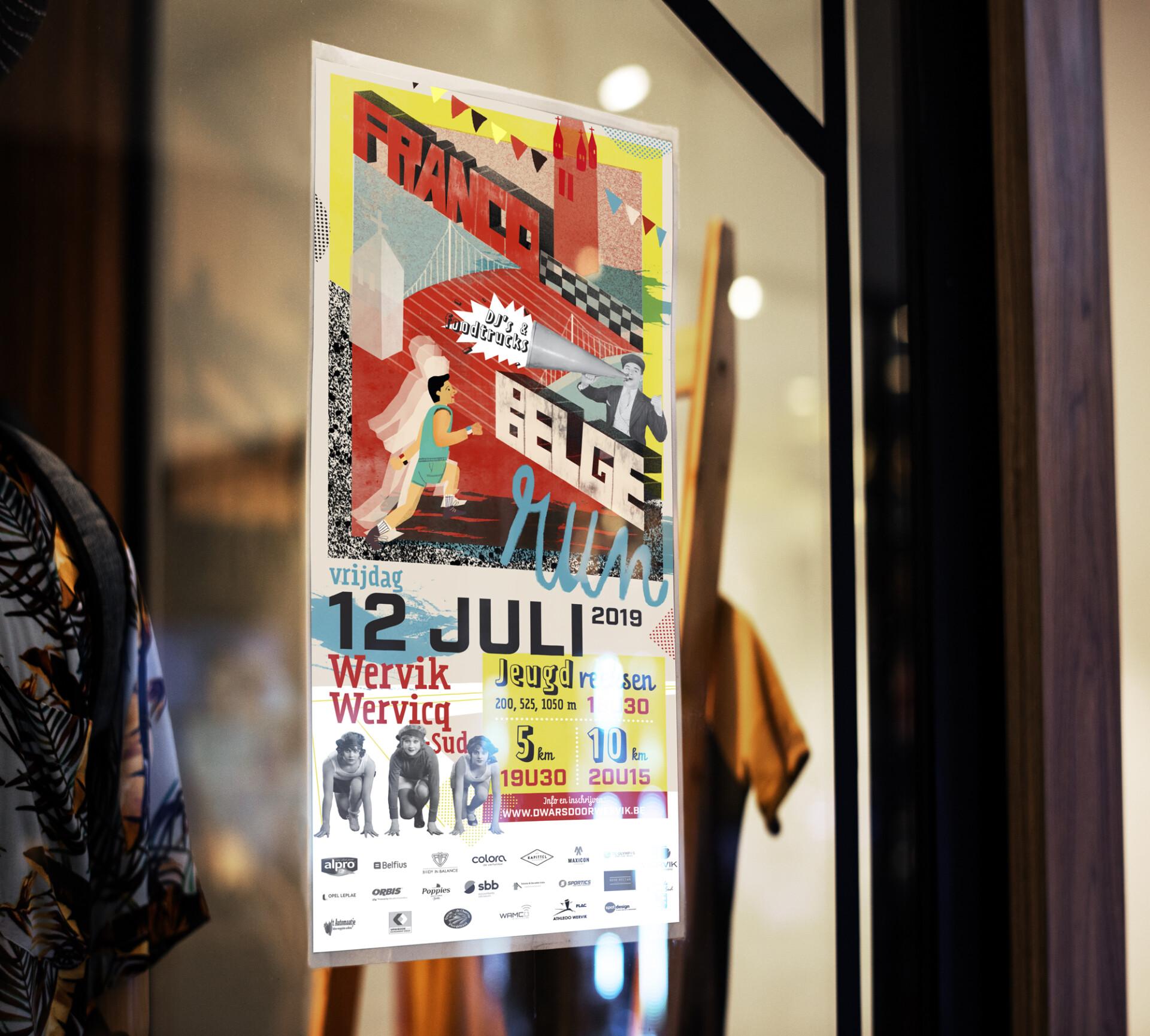 Francobelge Mockup Poster Window